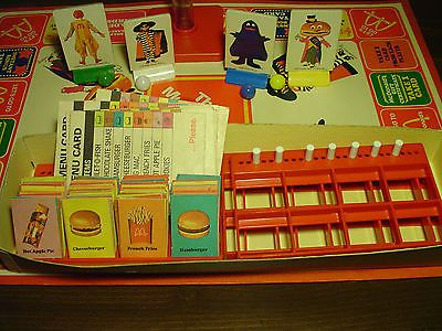 The McDonald's Game Vintage 1975 Board Game By Milton Bradley # 4530 Complete