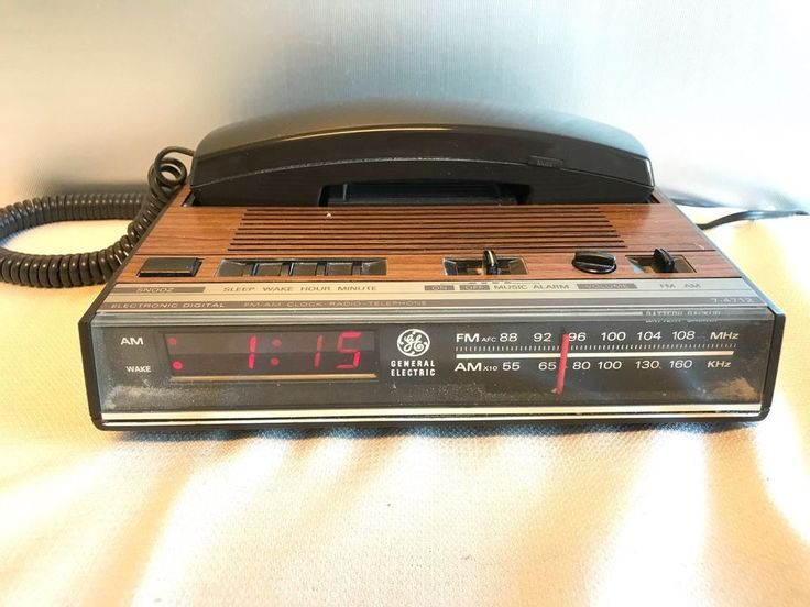 GE General Electric 7-4712A Digital Alarm Clock Radio Telephone #GE