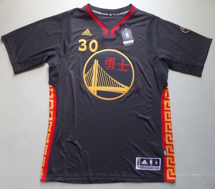 Stephen Curry Chinese New Year Golden State Warriors 2015 Limited Edition Jersey free shipping