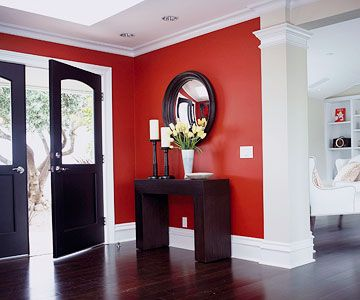 i love the red wall black furniture with the contrasting white hmmmm paint black furniture what color walls