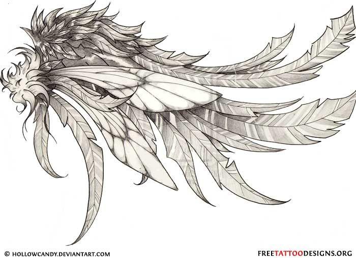 Angel wing tattoo designsunique lettering tattoo designstattoo art ...