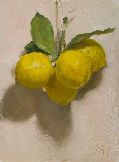 16cm x 22cm, oil on board Painting status: SOLD Daily painting for Saturday 29 November, 2014  daily painting titled Lemons - click for enlargement