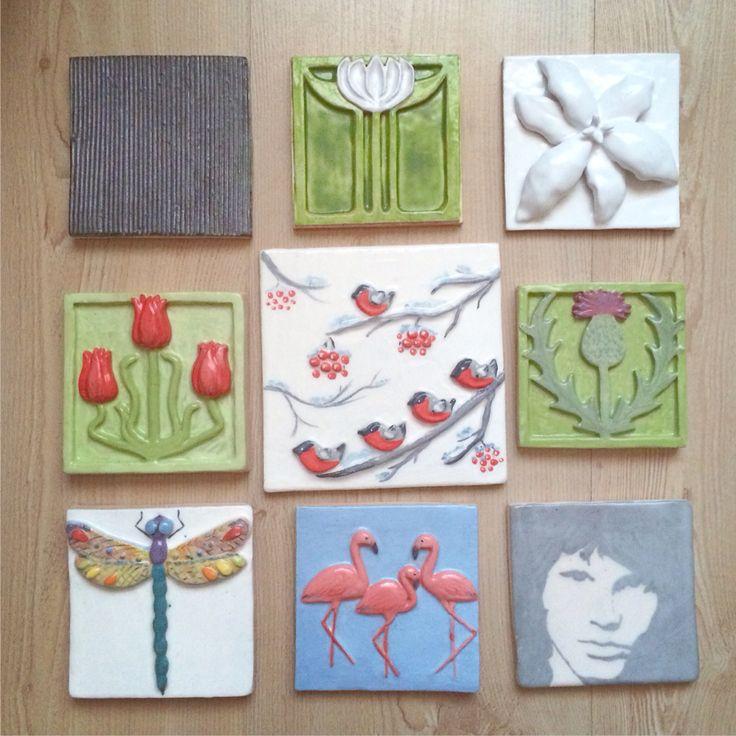 Handmade tiles. Плитка ручной работы  #ceramics #tiles #ceramic #керамика #плитка