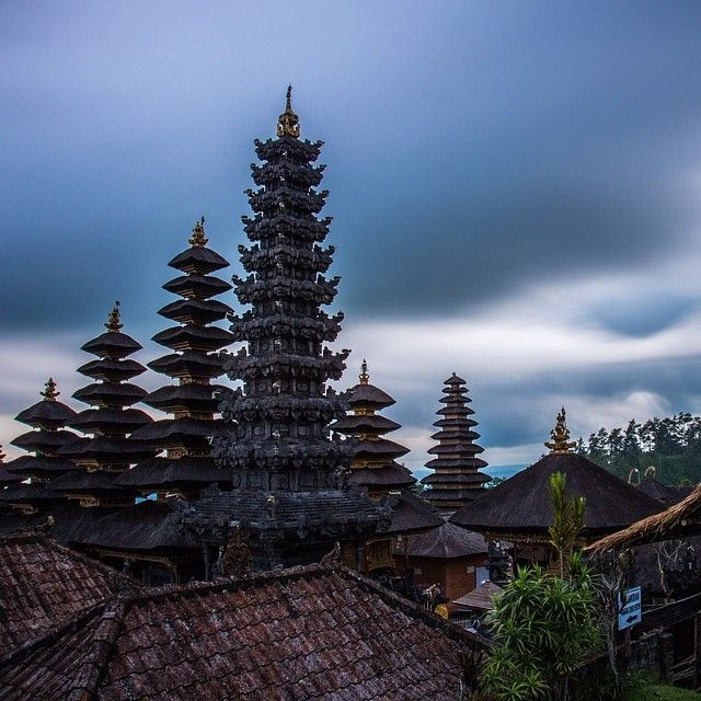 Besakih temple, the mother temple is fascinating to visit 30 minutes from Kertha Gosa Klungkung regency.