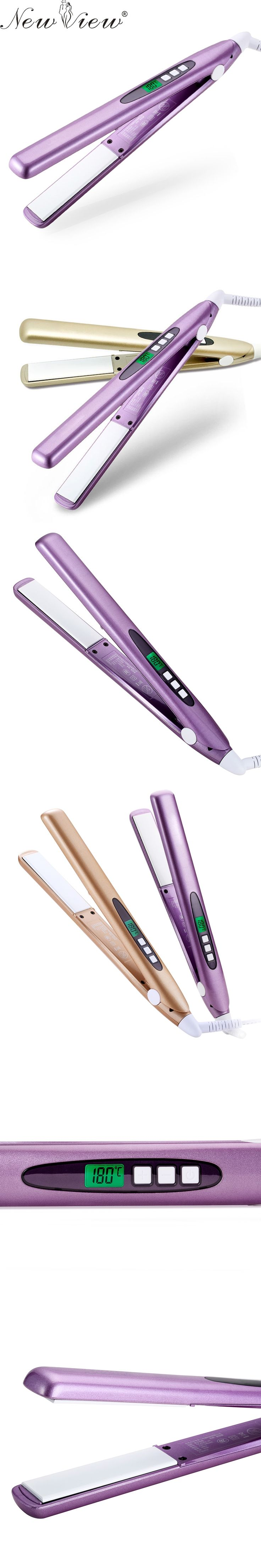 NewView Ceramic Hair Straightener Intelligent LCD Hair Straightening Flat Iron Professional Anion Styling Tools Salon