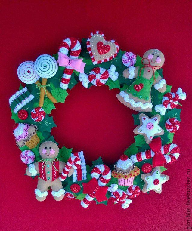 Купить Рождественский венок - рождество, рождественский подарок, Новый Год, новый год 2016, подарок на новый год