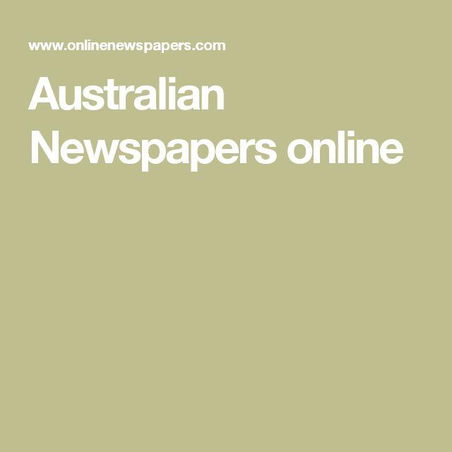 Australian Newspapers online