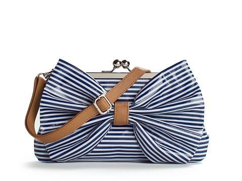 Poppie Jones Striped Bow Purse, too cute!