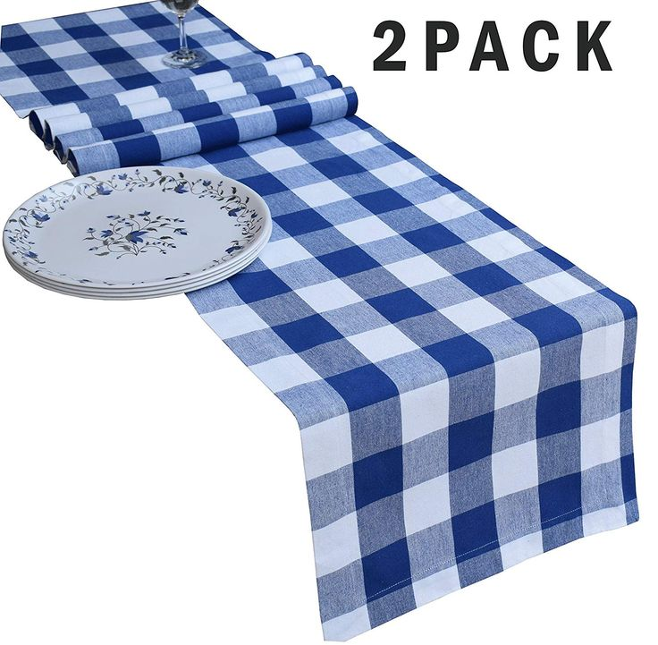 Buffalo check table runner 108 inch in 100