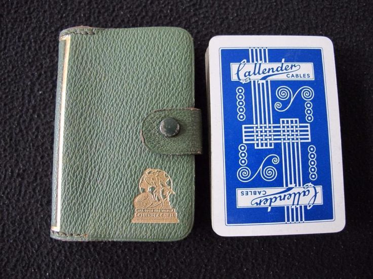 VINTAGE 1930's DE LA RUE PACK ADVERTISING PLAYING CARDS - CALLENDER CABLES