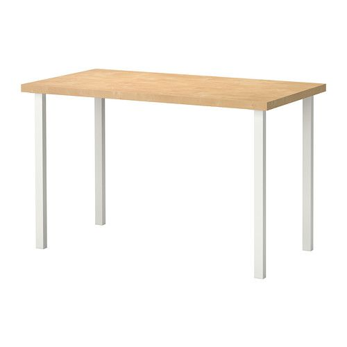 LINNMON/GODVIN Mesa - efecto abedul/blanco - IKEA