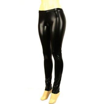 Amazon.com: Shiny Liquid Wet Metallic Full Leggings Stretchy Footless Black: Clothing