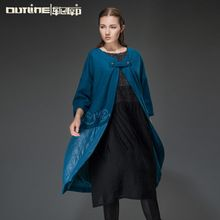 Outline Original Design Long sleeve Thicken Coat Western Size Loose Trench Coat Women Wearing Best Buy follow this link http://shopingayo.space