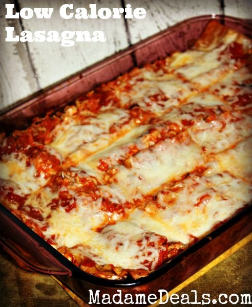 Delicious Low Calorie Lasagna Recipe