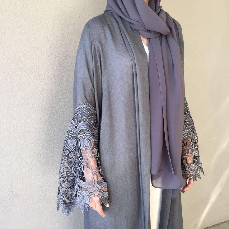 Our Grey beauty. Eid Collection ❤ #modestfashion #hijabstyle #hijabblogger #adstreetstyle #luxurylife #instafashion #ramadanstyle #hijabblogger #modestfashion #hijabstyle #abaya #styleofarabia