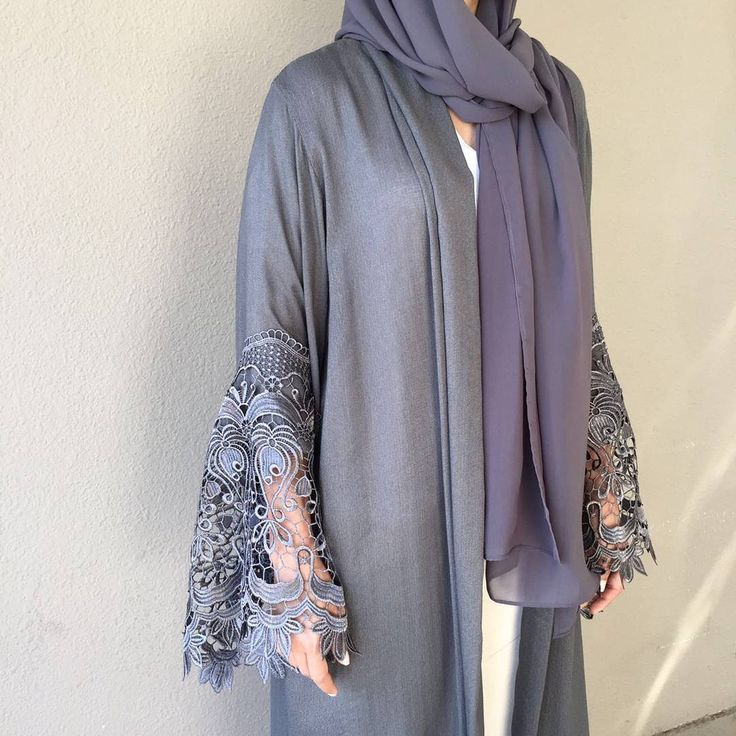 Our Grey beauty. Eid Collection ❤ #modestfashion #hijabstyle #hijabblogger…