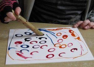 Bamboo pen art: Openend Art, Pens Art, Crafts Ideas, Paintings Ideas, Bamboo Pens, Open End Art, Children Art, Great Ideas, Drawing