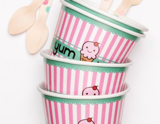 Pink Olive Ice Cream Set- Summer is on the way, share your ice cream in these cute containers! #summer #icecream http://shopfor20.com/product/pink-olive-ice-cream-set/