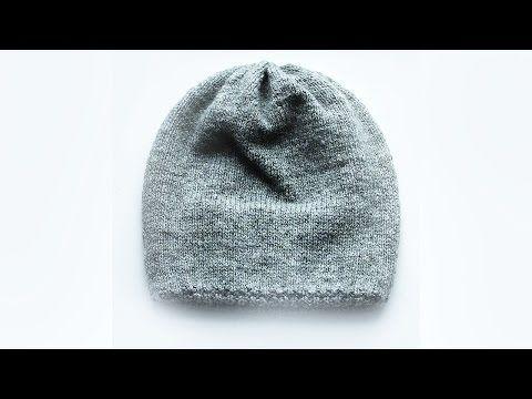 Вязание шапки спицами How to knit a Hat - ❄⛄☀☁❄ ПРОСТАЯ шапка спицами - YouTube