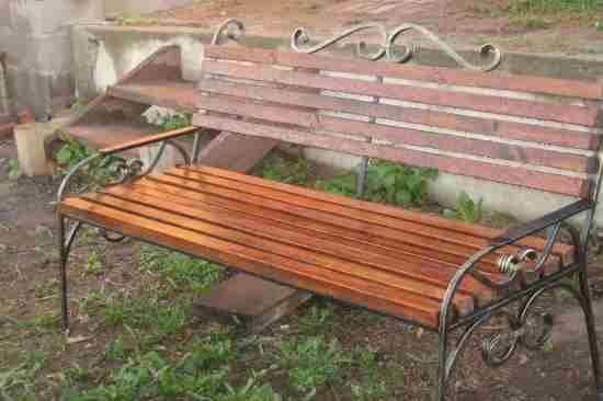 Кованые скамейки в Уфе Садовые скамейки