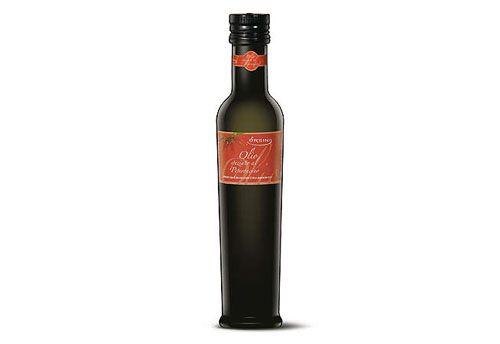 """L'olio extra vergine di oliva speziato con """"Peperoncino Piccante"""" è un condimento che accende lo spirito della tavola."""