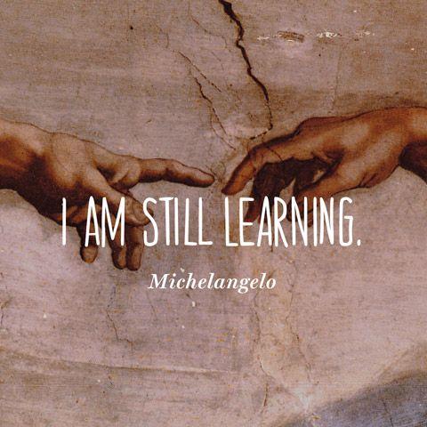 I am still learning. — Michelangelo