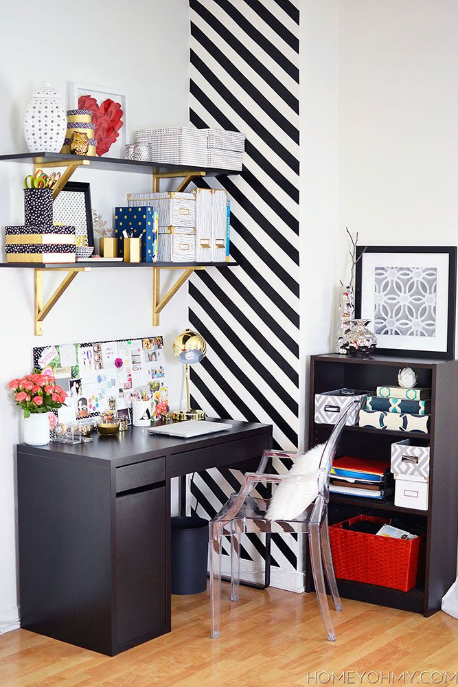 Bold Accents - Inspiring Home Offices from Harper's Bazaar