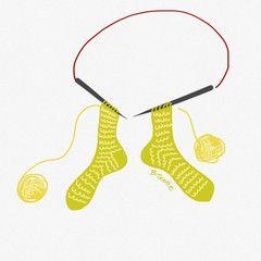 comment tricoter des bas - deux bas en même temps sur une aiguille circulaire