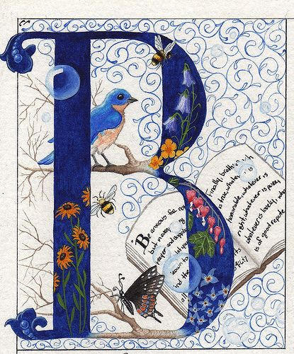 """#Monograms and illuminated letters.  I can't resist collecting """"B's""""   Blue, butterflies and Bees....Love It! Only by Colleen Olson, via Flickr"""