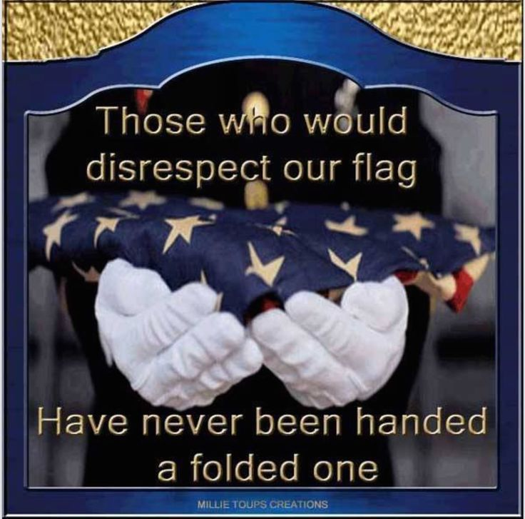 ANYONE who disrespects our flag, diserves to go to Hell!!!!!!