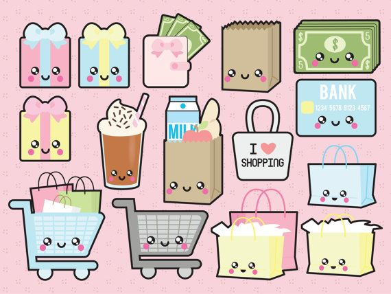 Prime Vector Clipart Clipart de Shopping par LookLookPrettyPaper