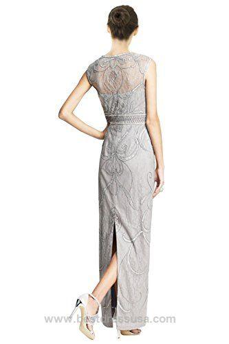 Sue Wong Cap Sleeve V-Neck Lace Soutache Evening Gown Dress  http://www.bestdressusa.com/sue-wong-cap-sleeve-v-neck-lace-soutache-evening-gown-dress/