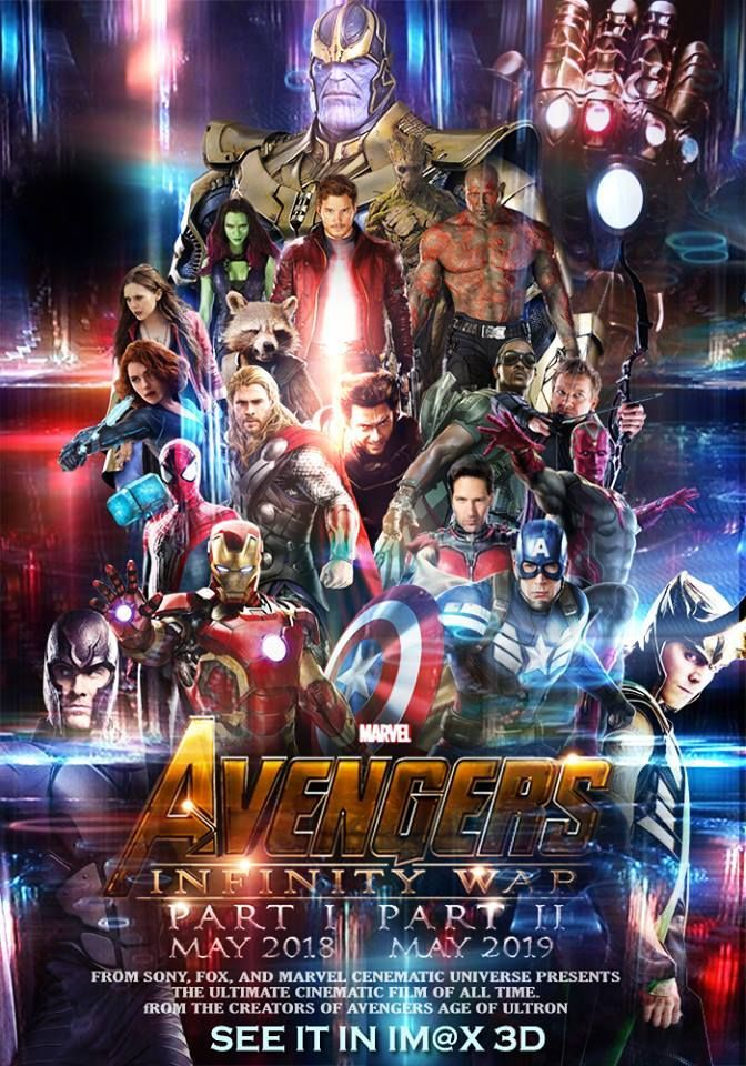 Fan made 'Avengers: Infinity War' (2018-2019) poster