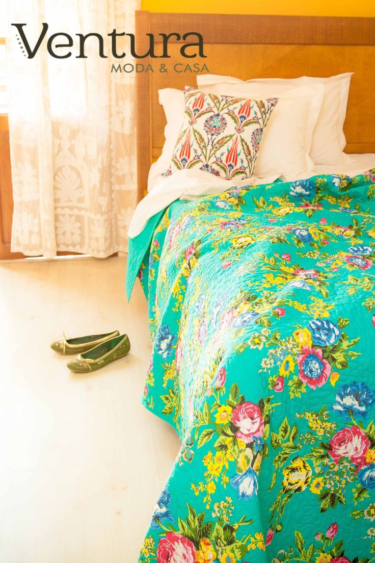 Colcha de casal em 100%algodao estampa exclusiva Ventura Moda e Casa. #venturamodaecasa #boho #ventura