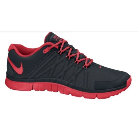 Nike Free Trainer 3.0 New in box (without lid) never worn black and red Nike Free Trainer 3.0. These shoes are a mens size 6 which converts to a womens size 7.5. Nike Shoes Athletic Shoes