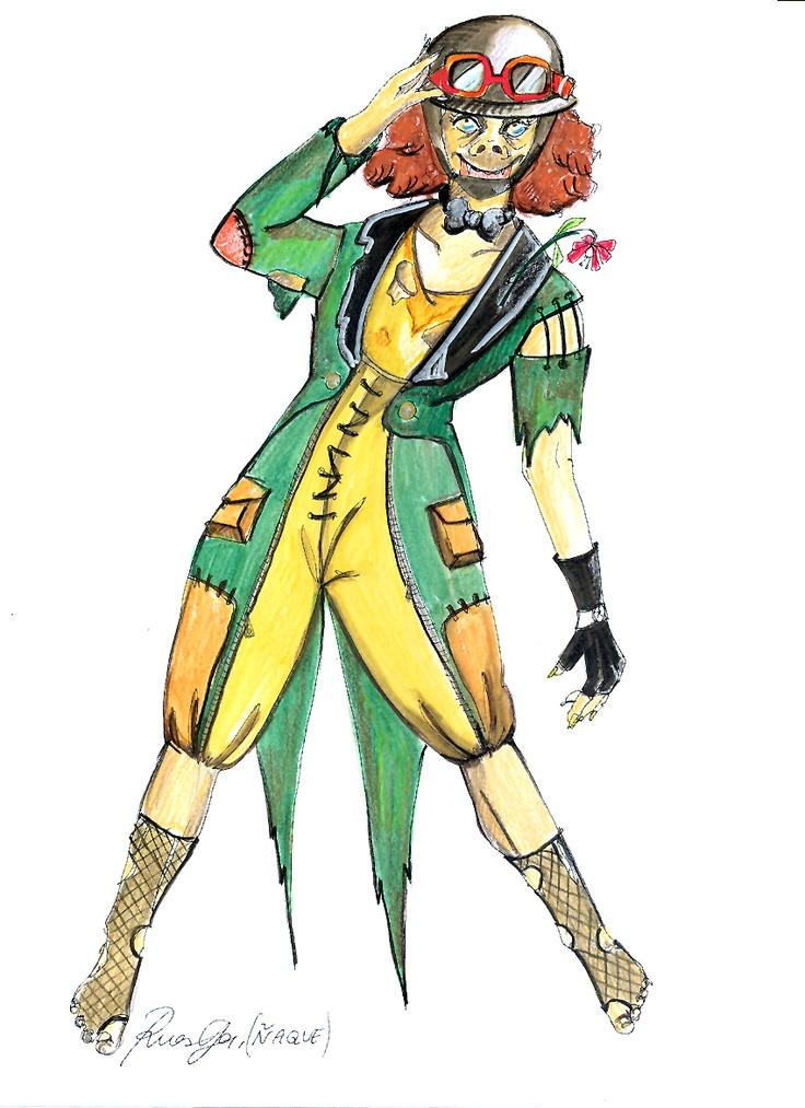 """Personaje para """"Noche de bufones"""" de la compañía Reymala. Diseño de Margarita Ruesga."""