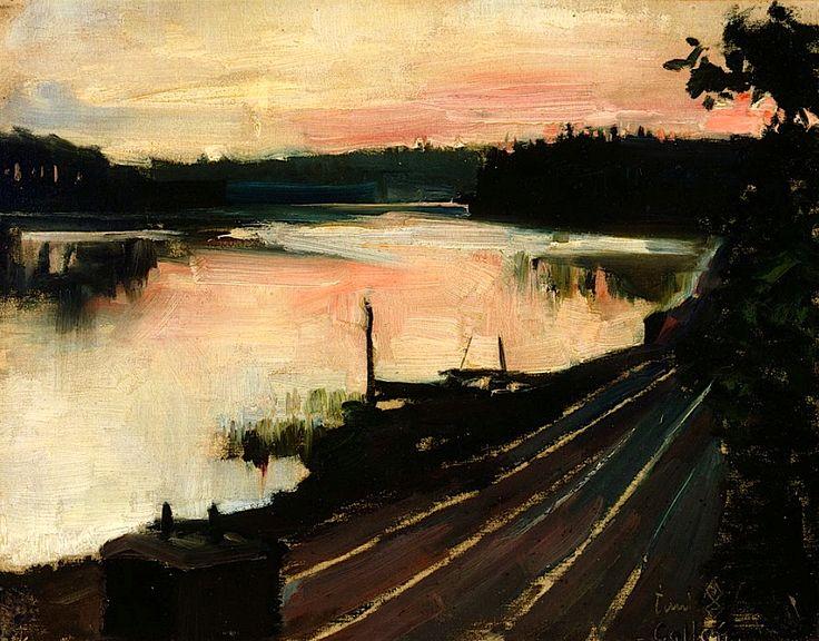 Gallen-Kallela, Akseli/ View from Eläintarha at Sunset