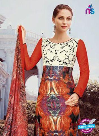 NS10809 B Red and Black Designer Pakistani Suit
