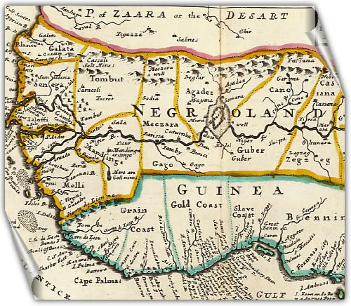 negroland and guinea | Negroland and Guinea - Herman Moll,London, 1736