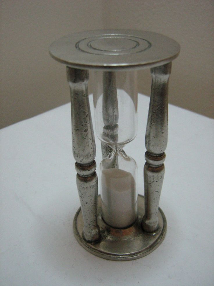 Pewter Sand Timer aged finish, Cosi Tabellini 332 approx 8.5cm, Tall approx 3min