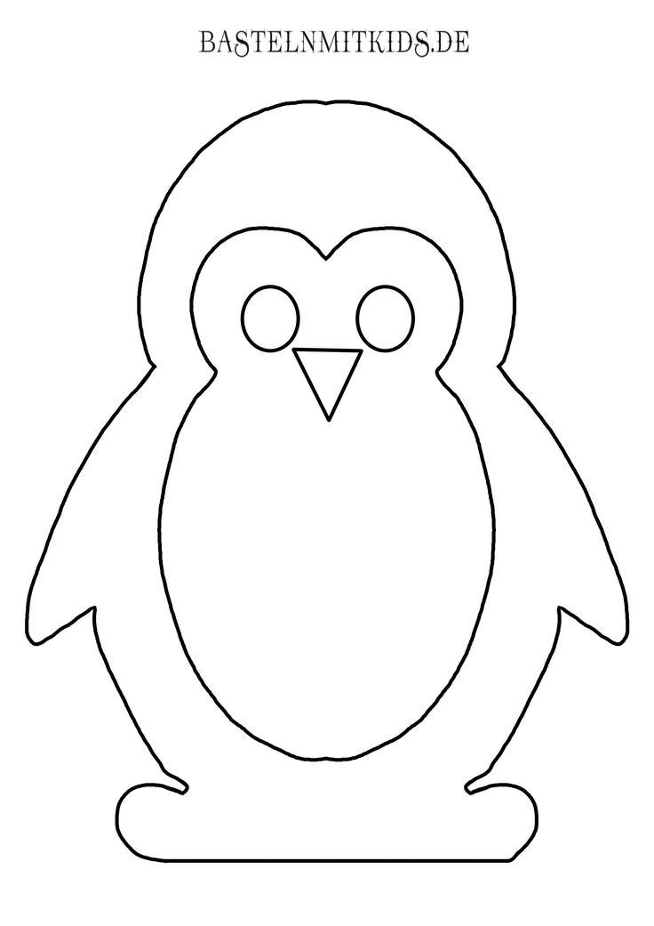 Pinguin zum Ausmalen oder Bekleben