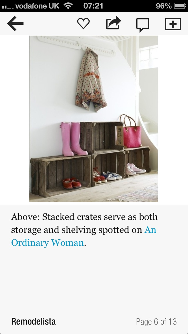 Apple boxes for storage