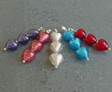 Tripe Heart Pendant available in lots of colours, great for Valentines Gifts and Weddings