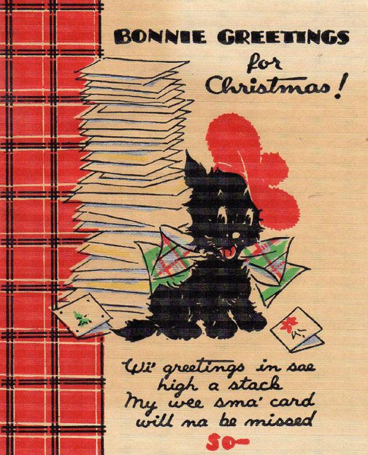 265 best art deco scotty dog christmas cards vintage 1920s early vintage christmas card 1935 scotty dog bonnie greetings for christmas m4hsunfo