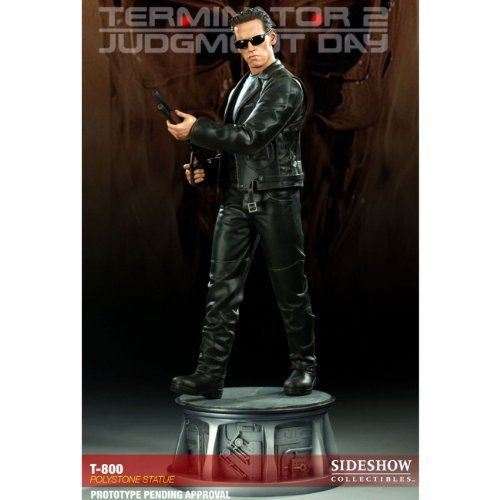 T-800 Terminator 2 Polystone Sideshow Collectibles Exclusive Statue by Sideshow Collectibles. $379.95. The T-800 Statue is an outstanding representation of the T2 hero, a stunning addition to any display.. From the sci-fi classic 'Terminator 2: Judgment Day', the T-800 Statue is a stunning representation of Arnold Schwarzenegger as the legendary cyborg.. Never displayed, but item has been opened to check for cracks or flaws.. The Sideshow Exclusive version of t...