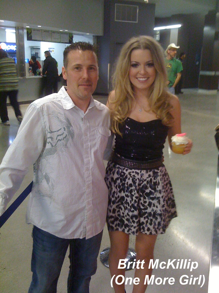 Britt McKillip from One More Girl stopped by to say hi when they were playing out at the Abbotsford Arena after we made them special cupcakes backstage.