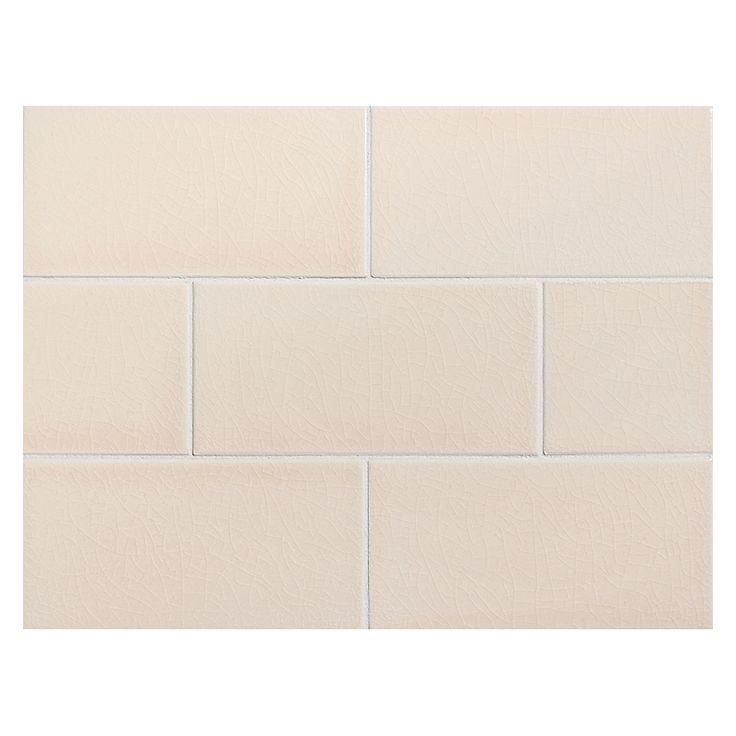 "Complete Tile Collection Vermeere Ceramic Tile - Bermuda Sand - Crackle, 3"" x 6"" Manhattan Ceramic Subway Tile, MI#: 199-C1-313-001, Color: Bermuda Sand"