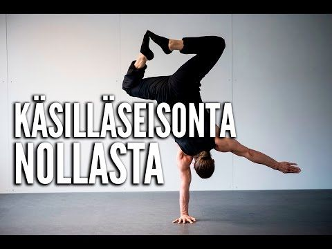 Käsilläseisonta nollasta - Jukka Rajala (VIDEO)   Tikis.fi