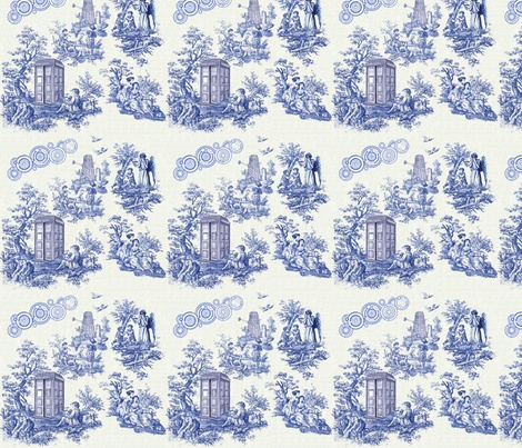 doctor who toile fabric by seschenck on spoonflower custom fabric telas pinterest dr. Black Bedroom Furniture Sets. Home Design Ideas