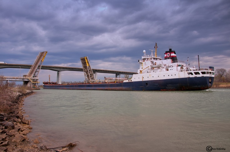 Ship Navigating the Welland Canal